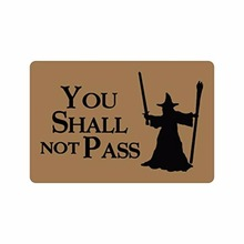 236L x 157W316 thickness Humorous Funny Saying  QuotesYou Shall Not Pass Indooroutdoor Floor Mat Doormat