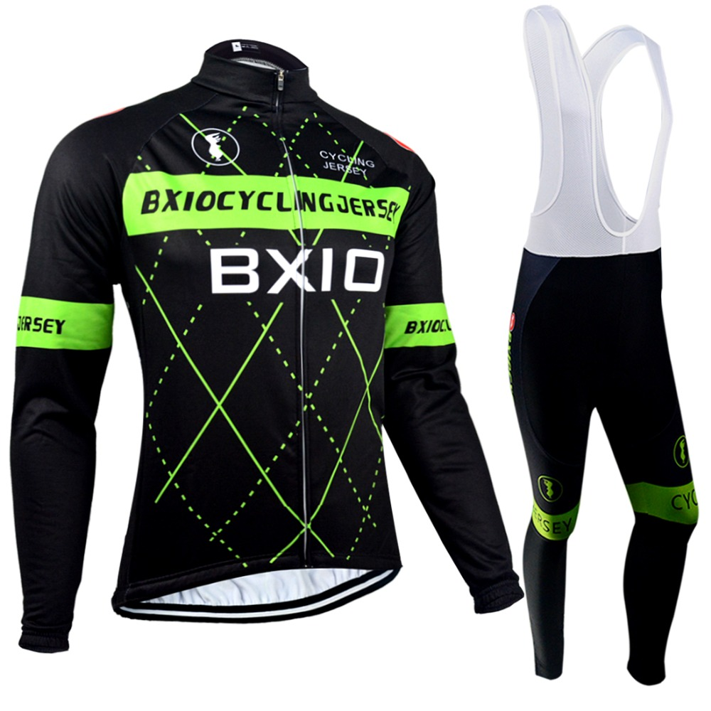 Bxio Autumn Bicycle Clothing Winter Thermal Fleece Cycling Jerseys Pro Bike Team Warm Long Sleeves Ropa Ciclismo Bike Jersey 018 xintown pro team cycling jerseys ropa ciclismo maillot winter thermal fleece bicycle clothing mens bicycle clothing bike clothes
