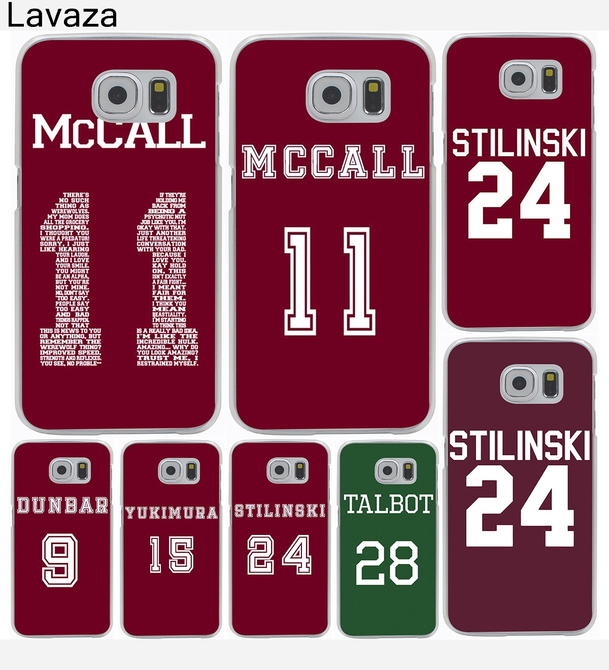 Teen Wolf Mccall 11 Words Hard Cover Case for Galaxy S3 S4 S5 & Mini S6 S7 S8 Edge Plus