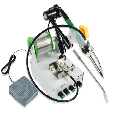 Máquina de Solda Estanho Automática Pedal Controle Temperatura Ajustável Alta Freqüência Tocha Soldagem S-3100