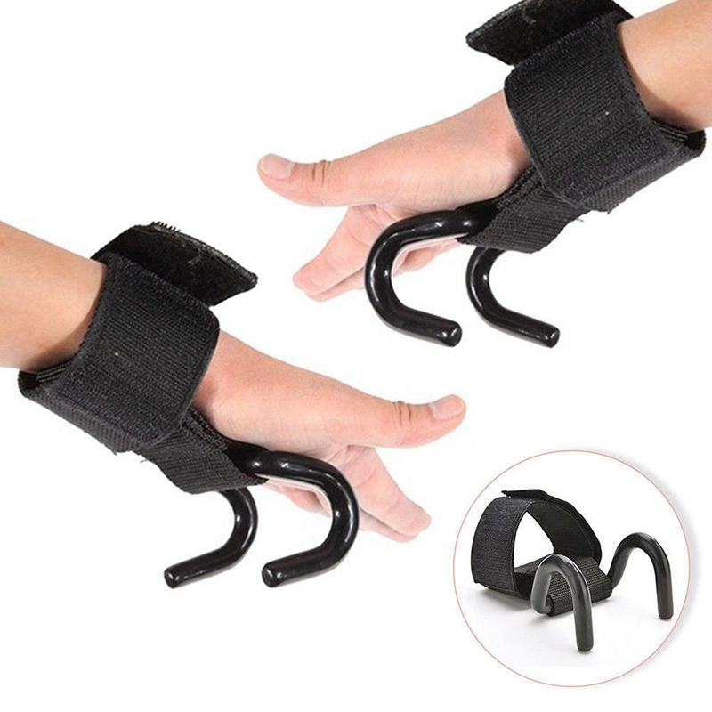 Newly High Quality 1Pc Strong Weight Lifting Training Gym Belt Hook Grip Strap Glove Wrist Support Fitness Equipment C55K Sale