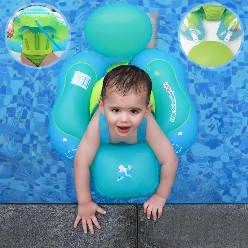 Baby Inflatable Swimming Ring Pool Accessories 0-3 Years Soft Anti-turn Loop Float Bathing Kids Double Raft Safe Swimming Toys