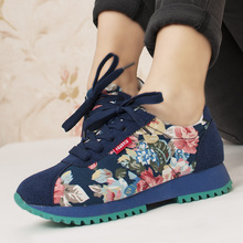 Creepers Sale Lace-up Sapatilhas 2016 New Spring Rustic Women's Shoes Low Single Women Cloth Agam Casual Free Shipping
