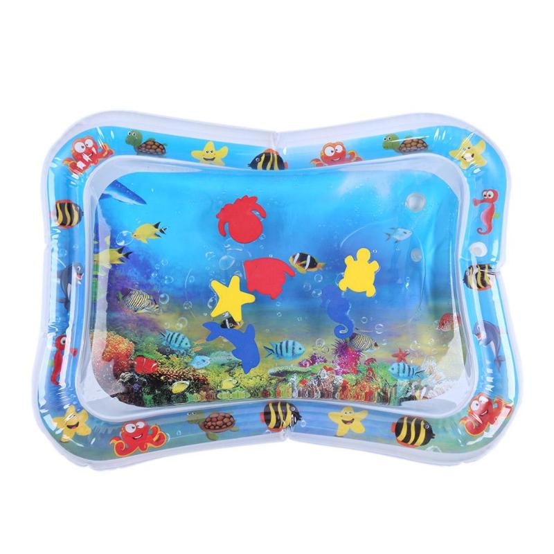 Baby Kids Water Play Mat Inflatable Infants Tummy Time Playmat Toy Hand-eye Coordination For Children Funny Water Game Props