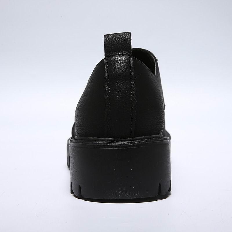 Homens Plataforma Marrom Arrival Sapatos Homem Altura Brogue marrom Couro Vestido Redondo De Lazer Errfc New Crescente Dedo Preto Sapatas Escritório Calçado Pé Pu Do Yx75qzEw