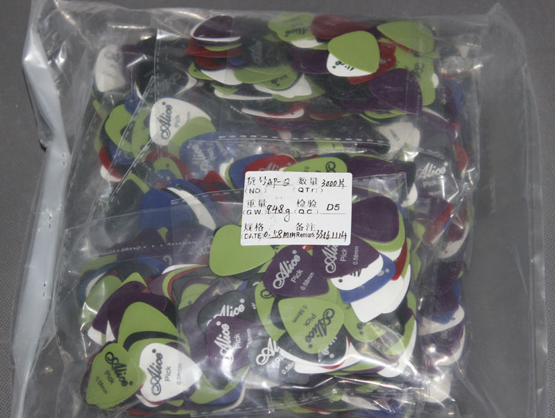 3000pcs Alice Folk Acoustic Electric Guitar Picks Plectra Thickness 0 58 mm wholesale drop shipping