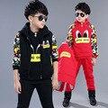 Carino Tommu Crianças Meninos ternos De Inverno Crianças Outerwear 3 Peças Terno Chrismas Ano Novo Wear Melhor Presente 3-14 anos