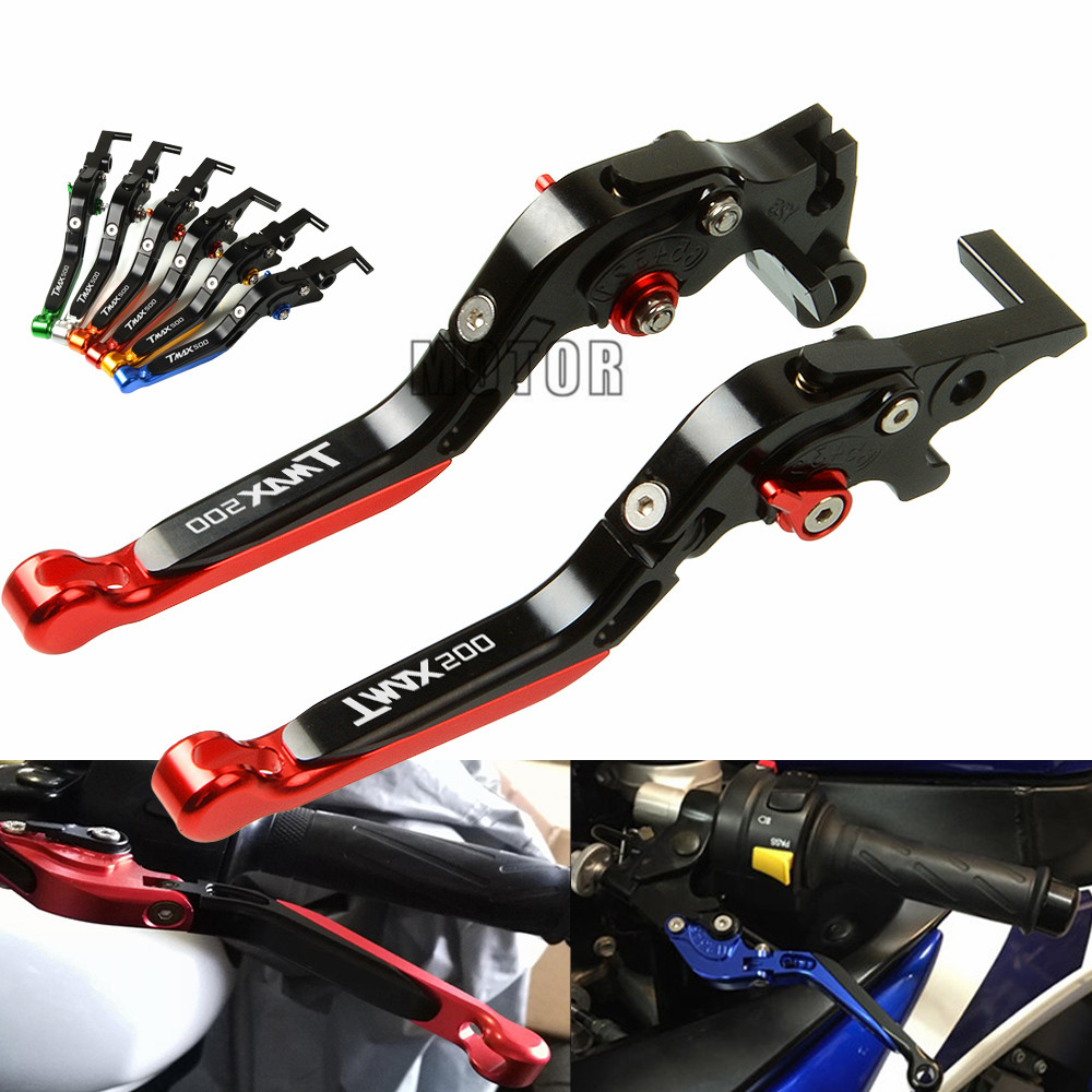 Folding Extendable Adjustable Brake Clutch Levers Lengthening Motorcycle Parts For <font><b>YAMAHA</b></font> <font><b>TMAX</b></font> <font><b>500</b></font> <font><b>2001</b></font>-<font><b>2007</b></font> TMAX500 2008-2018 image