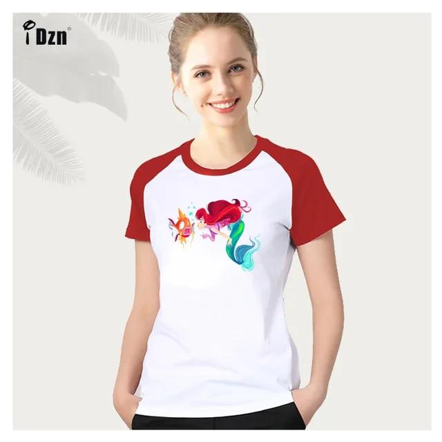 Summer New Women's Tshirt Mermaid Ariel Cute Pokemon Magikarp T-shirt Casual Girl Short T Shirts Printed Graphic Tee Tops S-2XL