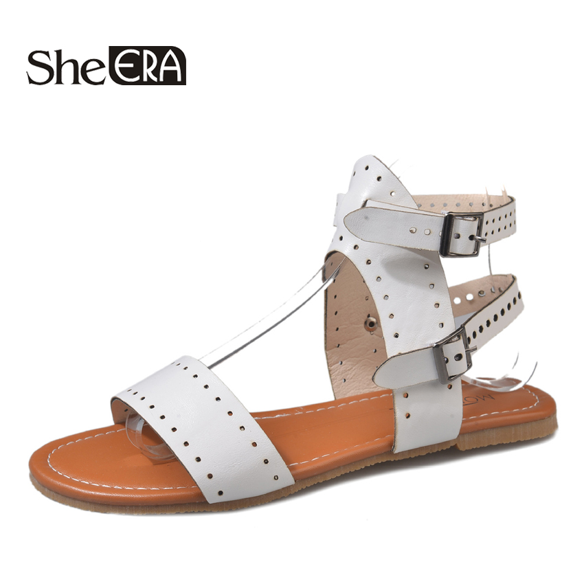 Women Sandals Soft Leather Gladiator Sandals Women Casual Summer Shoes Female Flat Sandals Beach Shoes Women Sandalias Mujer