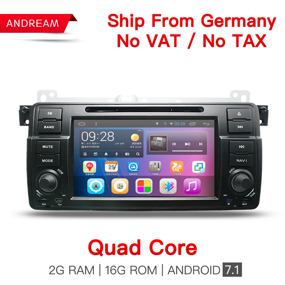 Quad Core Android 7.1 IN Dash Car DVD Player For BMW/E46/M3/MG/ZT Wifi Support DAB GPS Navigation Radio FM