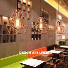 2018 modern plating metal cage pendant lamp,vintage plating rose gold birdcage creative hanging lamp for restaurant living room