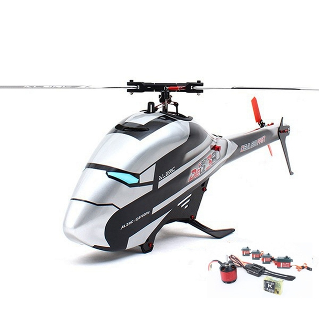 Hot ALZRC Devil 380 FAST RC Helicopter Super Combo With Flybarless Head Rotor Set Thickened Carbon Fiber Tail Boom RTF