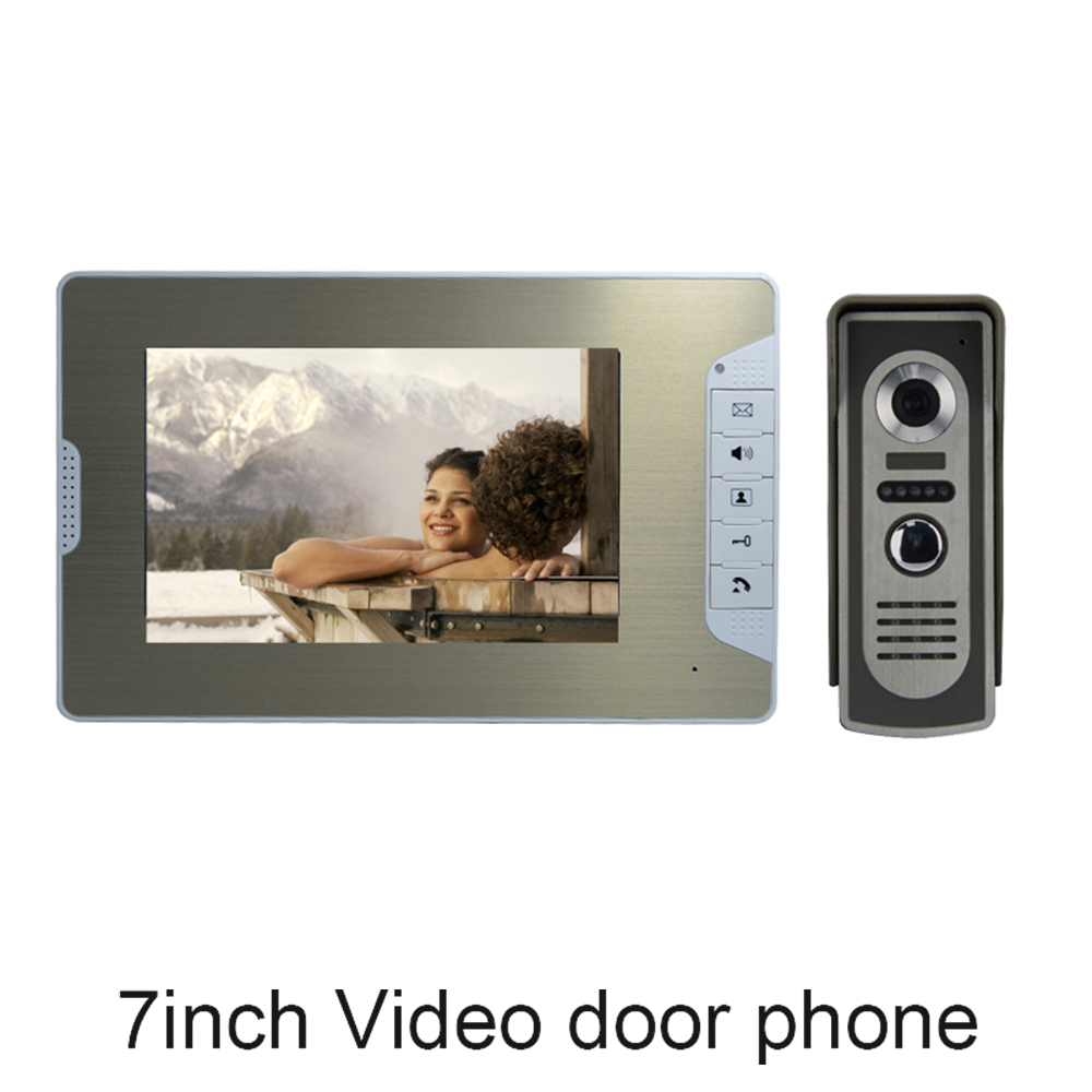 (1 set) Smart Home Door Intercom System One to One Video Door Phone 7 inch Display Door Access Control talk-back waterproof 7 inch password id card video door phone home access control system wired video intercome door bell
