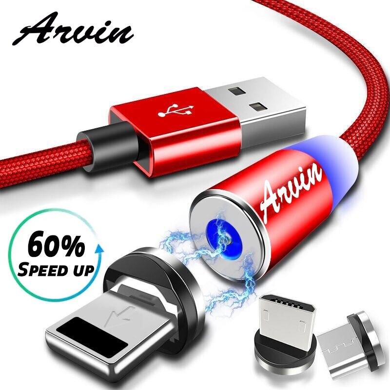 1 M Magnetische Kabel Für Iphone Micro Usb Kabel Typ C Adapter Telefon Microusb Typ-c Magnet Ladegerät Usb Für Samsung Xiaomi 7 8 Kabel