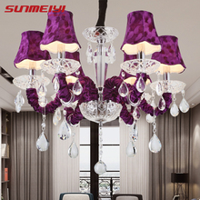 led avize Crystal Chandelier Lighting lustre moderne Large chandeliers For Living room Dining suspension