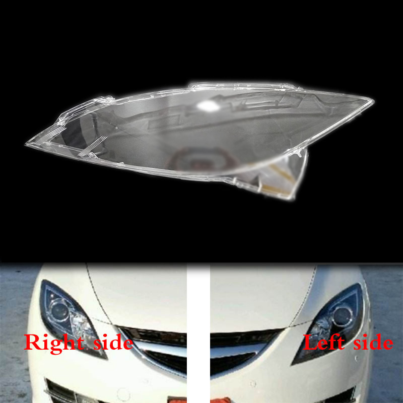 For Mazda 6 2009 - 2012 Sedan 4Dr Front Headlamps Transparent Lampshades Lamp Shell Masks Headlights Cover Lens Headlight Glass