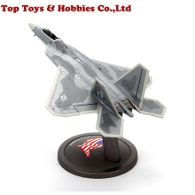 kids toys 1/72 Scale Military Alloy Aircraft F-22 Raptor Fighter model Airplane Diecast Alloy Toy Air Force Aircraft Model