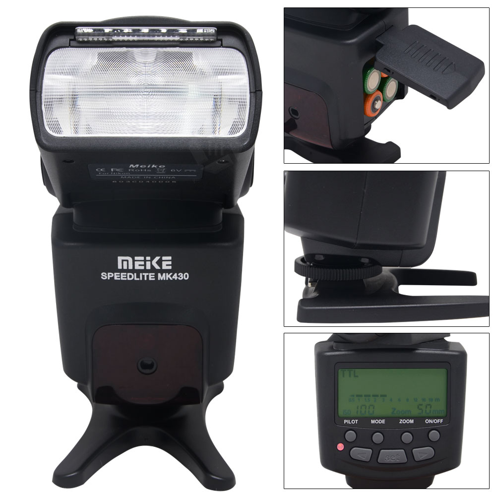 ФОТО Meike MK-430C i-TTL S1/S2 LCD Flash Speedlite for Canon 7DII 60D 70D 550D 600D 700D