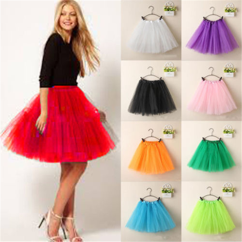 Women Skirts Fluffy Party Adult Novelty Colorful Tulle Tutu Dance Ballet Short Mini Skirt Summer Cute Sweet Mesh Ball Gown 2019