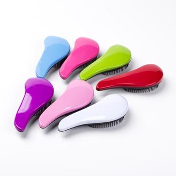 Magic Anti-static Hair Brush Handle Tangle Detangling Comb Shower Electroplate Massage Comb Salon Hair Styling Tool 1