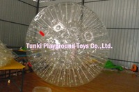 human bubbles soccer zorb ball inflatable double ball with belt 2.5X1.8MTS