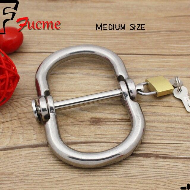 Medium Size Stainless Steel Handcuffs Restraints Costume Restraint Bondage PlayChain Sex Flirt Toys Costume sex toys for couples