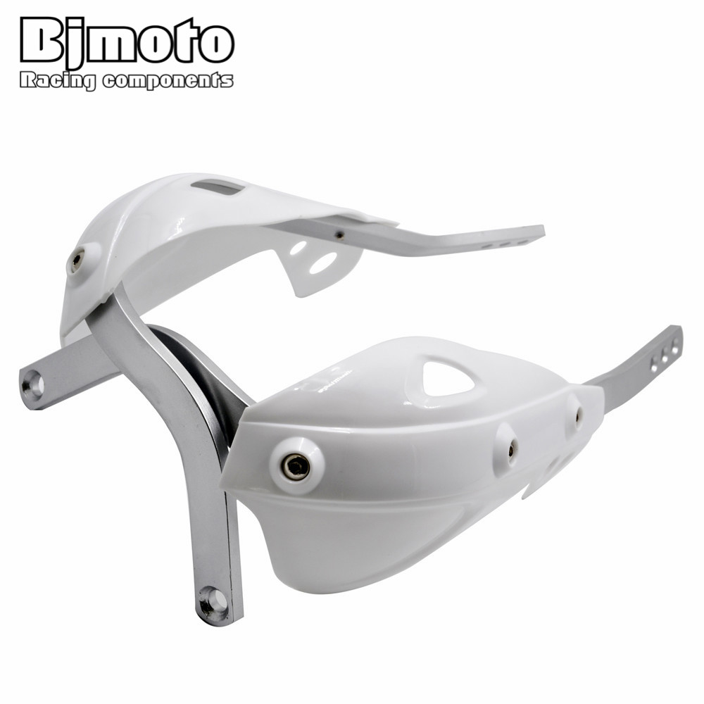 White Handguards Handlebar Hand Guards Fit Motorcycle Motocross Dirt Pit Bike Off Road CRF YZF KXF KTM RMZ ATV EXC Supermoto atv motorcycle wind shield handle hand guards motocross transparent handguards for honda cbf600 sa cbf1000 a cb1100 gio nc750