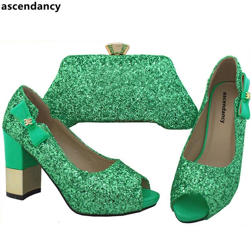 Para Zapato colorful Green azul Bolso Africano Del Último Italianos oro Zapatos Bolsa Italia Bolsos Juego Real baby Negro Y Con púrpura La red A Boda Los Oro Color vxFgqBF6