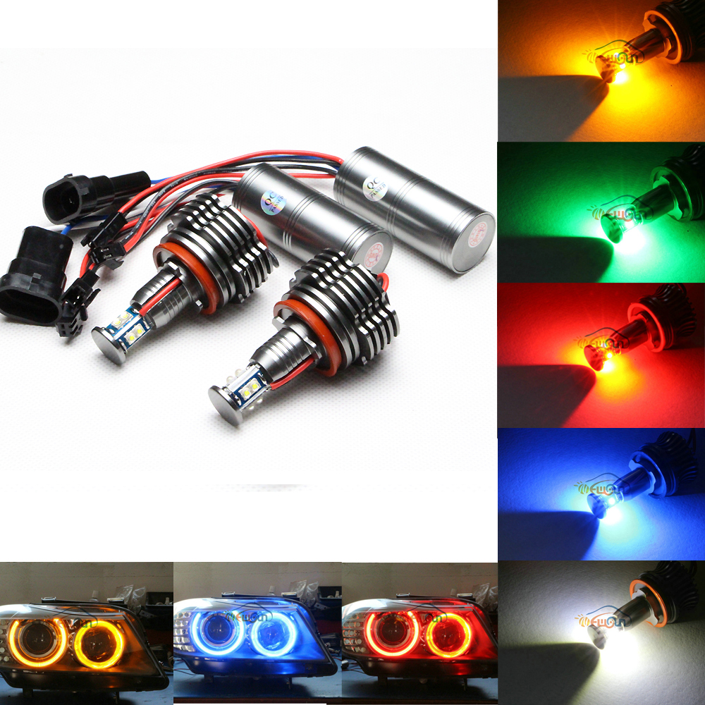 ФОТО E92 H8 40W ultra bright LED Marker Angel Eyes for BMW E60/E61/E90/E91/E92E93/F01/X1/X5/X6 80W H8 cree chip led marker bulbs