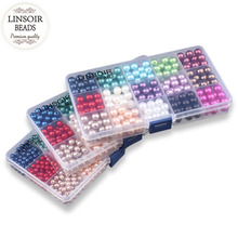 6/8/10mm 1set /Lot 15 Colors ABS Imitation Pearls Plastic Beads For Bracelets Jewelry Handmade Bracelet Charm Spacer Beads F2980