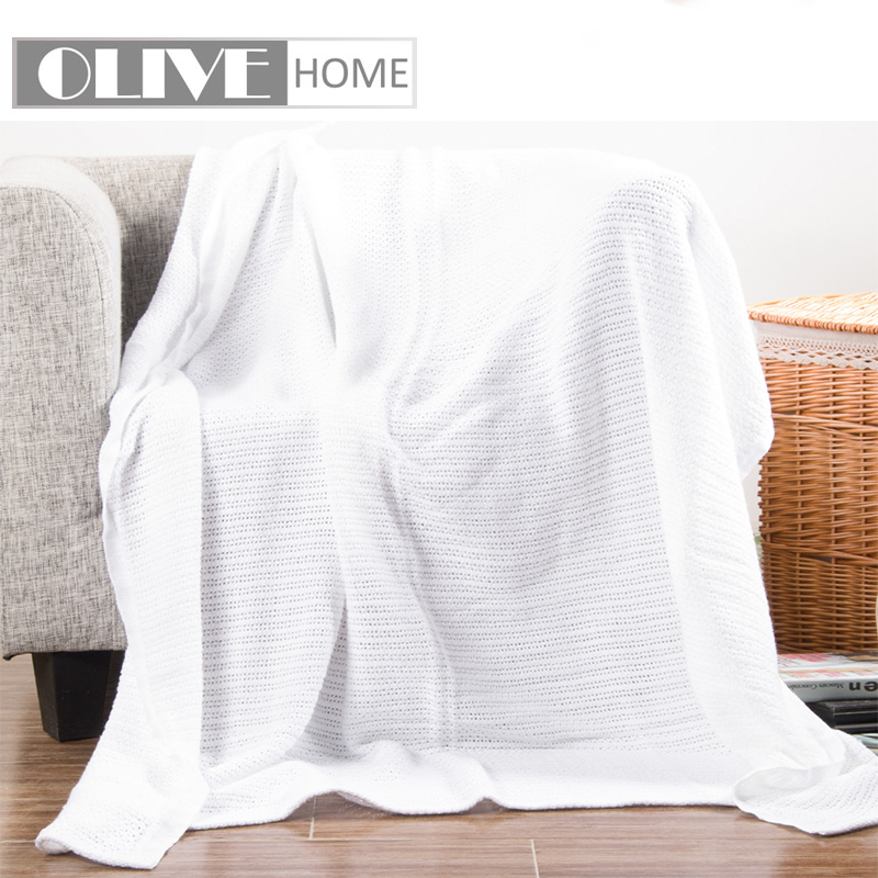 Home Automation Modules Waffle Blanket Weave Fringed Sofa Bed Cover Baby Throw Rug Slipcover 1.3*1.6m Choice Materials