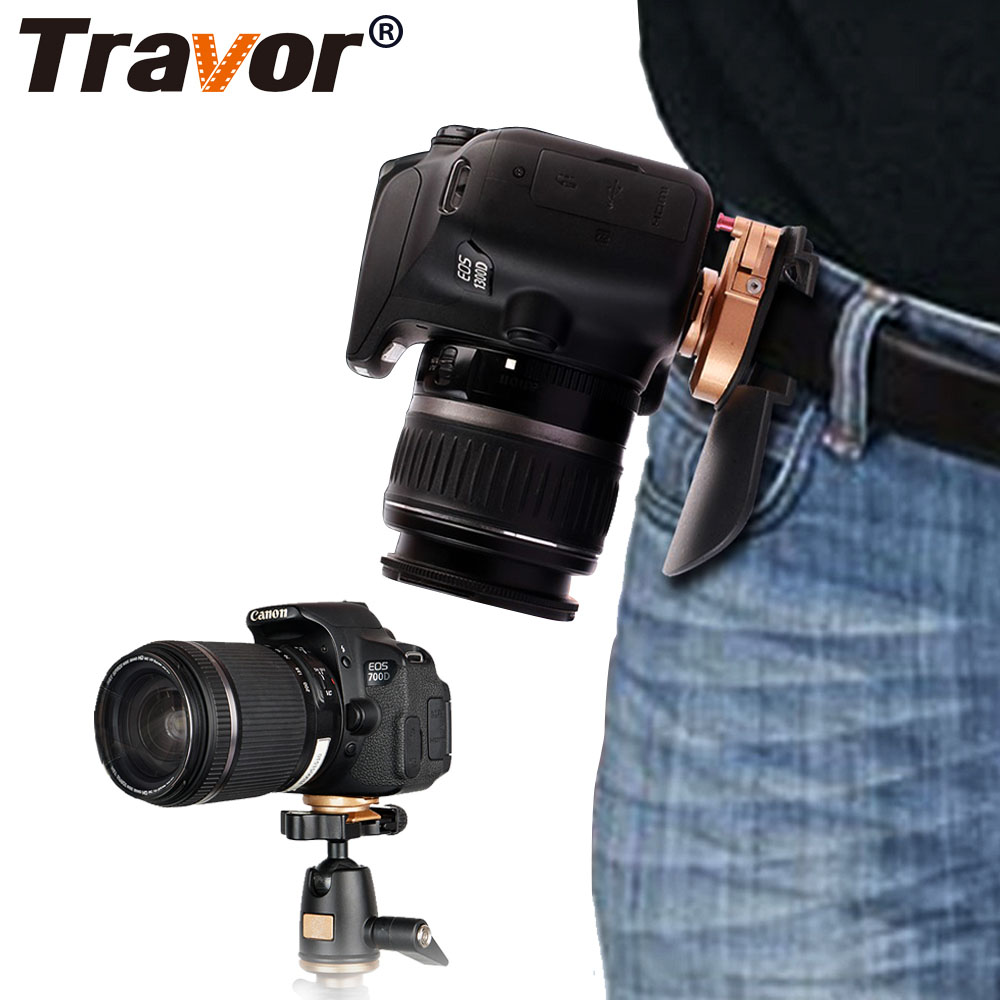 Travor Camera Waist Belt Mount Button Buckle Hanger Clip For any model of Canon Nikon Sony DSLR Camcorder цена