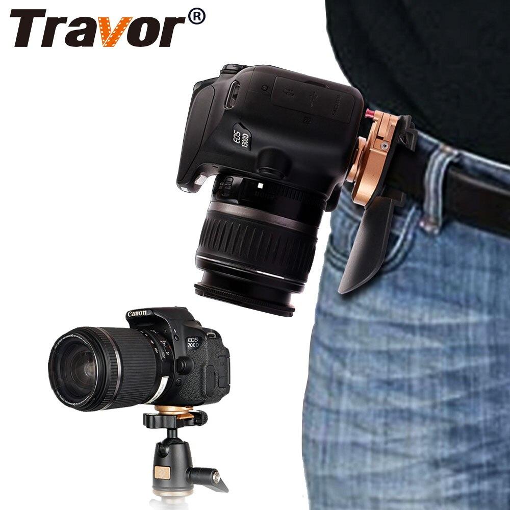 Travor caméra taille ceinture montage bouton boucle cintre Clip pour tout modèle de Canon Nikon Sony DSLR caméscope