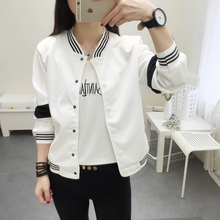 2018 Student Jacket New Spring Women Collar Cardigan Summer Jacket Casual Girl
