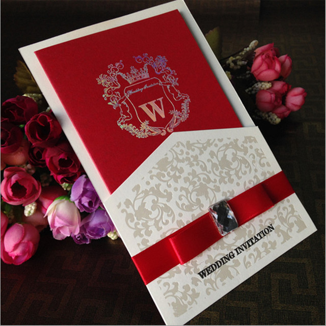 aliexpress com 20pcs luxury wedding invitation card - Luxury Wedding Invitations