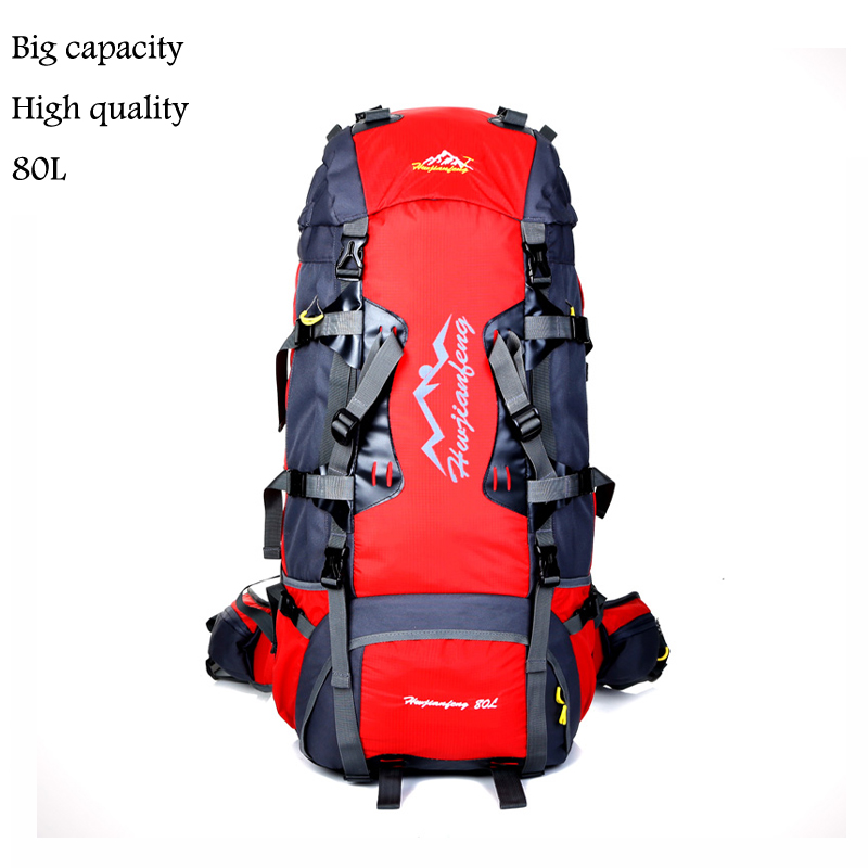 80L Waterproof Durable Climbing Women Backpack Men Hiking Athletic Sport Bags Travel Backpack Outdoor Hiking Backpacks  0