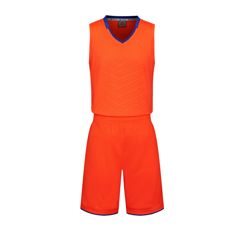 <font><b>Men</b></font> With Mesh Breathable Basketball 2pcs Sets Vest <font><b>Shorts</b></font> Basketball Jerseys Students Anti-Wrinkle Team Training Sports <font><b>Suits</b></font> image