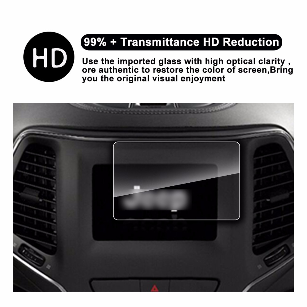 2018 Jeep Cherokee Uconnect 7inch Tempered Glass Car Navigation Electronic Appliance Protector Screen In Protectors From Consumer Electronics On Alibaba