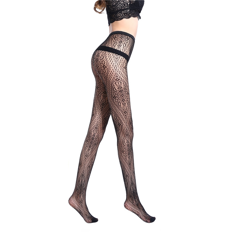Style Sexy womens tights Stockings Black Elastic Pantyhose mesh Stockings Lingerie Female Thigh High Stocking WK07