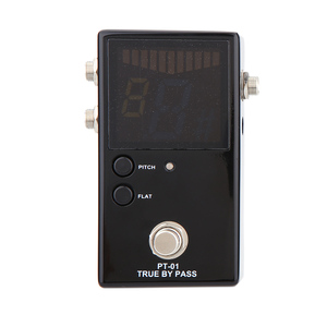Image 2 - Protable Guitar Pedal Tuner for Guitarra Bass Violin Ukelele Guitar Tuner Stringed Instruments Clear View with FND Screen