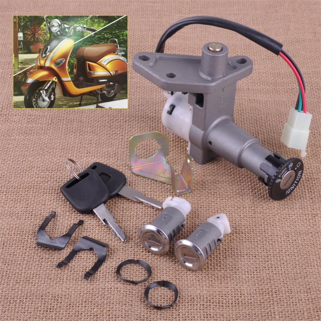 CITALL Moped Scooter Ignition Key Switch Lock Toolbox Cushion Lock For 50cc - 150cc 250cc Scooters Moped GY6 Chinese Part 4 Wire