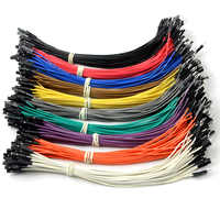 Cable conector hembra a macho Dupont de alta calidad 40 Uds 20cm Cable de puente de Color para Arduino