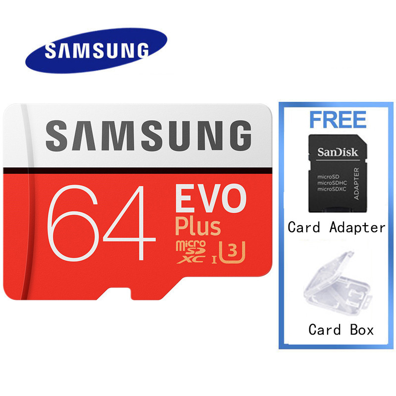 SAMSUNG Sd Memory Card 32gb Tf Card 32GB Micro 64gb Microsd 64GB Grade3 EVO PLUS Class 10 U3 U1 Up To 100MB/S For PSP Tablet samsung micro sdhc tf card 64gb class 10 w tf to sd card adapter orange 64gb