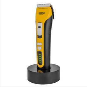 Image 1 - Maquinilla eléctrica para cortar el pelo para hombres y adultos máquina de afeitar profesional de 25w, recargable, con pantalla LED de 220V/110V