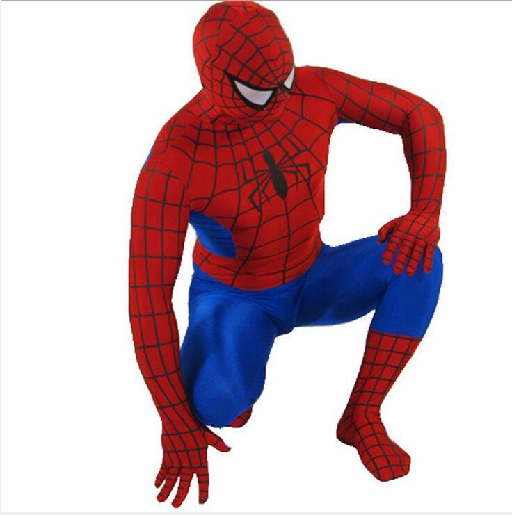 high quality spandex amazing spiderman costume adult kids child black spiderman halloween. Black Bedroom Furniture Sets. Home Design Ideas