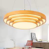 Modern Led Wooden Pendant Light Living Room Pendant Lamp Bedroom Lighting Deco Interior Hanging Lights Lighting Kitchen Fixtures