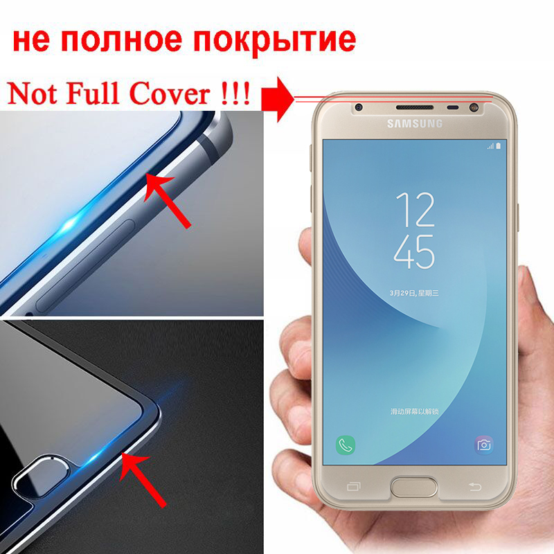 Image 3 - Tempered Glass On The For Samsung Galaxy J3 J5 J7 A3 A5 A7 2015 2016 2017 2018 Protection Glas Screen Protector Protective Film-in Phone Screen Protectors from Cellphones & Telecommunications