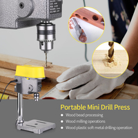 Mini Bench Drill Press 450W 220V Bench Drilling Machine Variable Speed Drilling Chuck 1 10mm For DIY Wood Metal Electric Tools