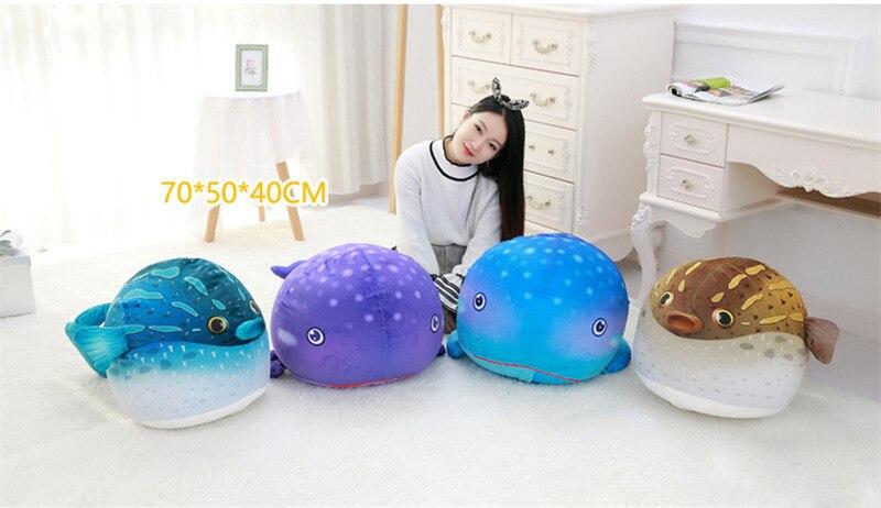 Fancytrader плюшевые морские животные Черепаха Осьминог Globefish игрушечный КИТ пенная частица набитый стул для детей 70 см X 50 см X 40 см